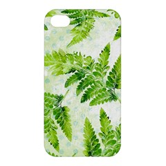 Fern Leaves Apple Iphone 4/4s Premium Hardshell Case by DanaeStudio