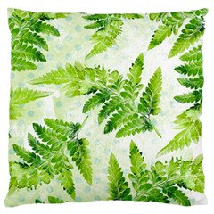 Fern Leaves Large Cushion Case (one Side) by DanaeStudio