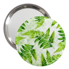 Fern Leaves 3  Handbag Mirrors by DanaeStudio
