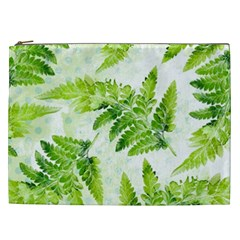 Fern Leaves Cosmetic Bag (xxl)  by DanaeStudio