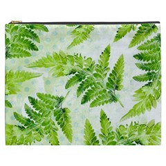 Fern Leaves Cosmetic Bag (xxxl)  by DanaeStudio