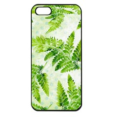 Fern Leaves Apple Iphone 5 Seamless Case (black) by DanaeStudio