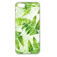 Fern Leaves Apple Seamless iPhone 5 Case (Clear)