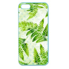 Fern Leaves Apple Seamless Iphone 5 Case (color) by DanaeStudio
