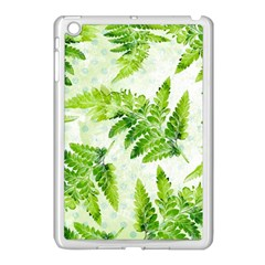 Fern Leaves Apple iPad Mini Case (White)