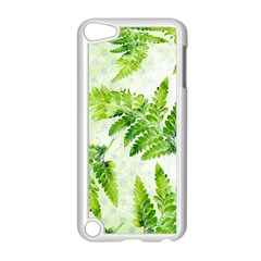 Fern Leaves Apple Ipod Touch 5 Case (white) by DanaeStudio