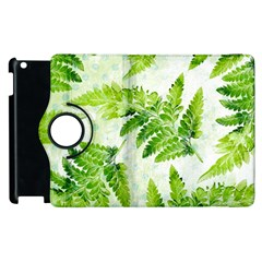 Fern Leaves Apple Ipad 2 Flip 360 Case by DanaeStudio