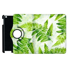 Fern Leaves Apple Ipad 3/4 Flip 360 Case by DanaeStudio