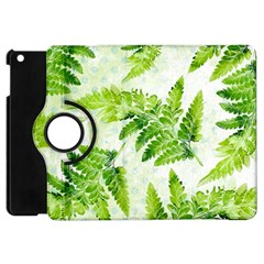 Fern Leaves Apple Ipad Mini Flip 360 Case by DanaeStudio