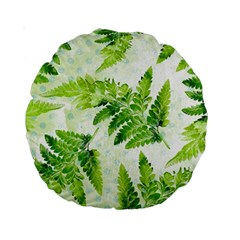 Fern Leaves Standard 15  Premium Round Cushions by DanaeStudio