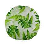 Fern Leaves Standard 15  Premium Round Cushions Front