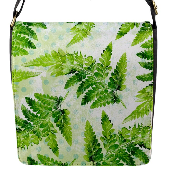 Fern Leaves Flap Messenger Bag (S)