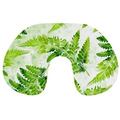 Fern Leaves Travel Neck Pillows by DanaeStudio