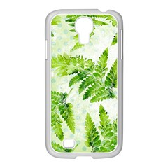 Fern Leaves Samsung GALAXY S4 I9500/ I9505 Case (White)