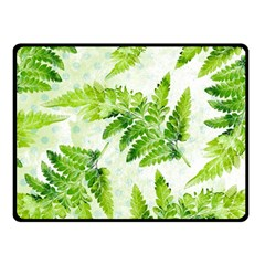 Fern Leaves Double Sided Fleece Blanket (Small)