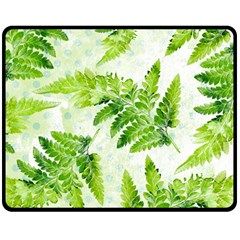 Fern Leaves Double Sided Fleece Blanket (Medium)