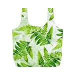Fern Leaves Full Print Recycle Bags (M)  Back