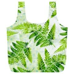 Fern Leaves Full Print Recycle Bags (l)
