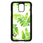 Fern Leaves Samsung Galaxy S5 Case (Black) Front