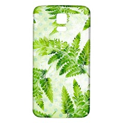Fern Leaves Samsung Galaxy S5 Back Case (White)
