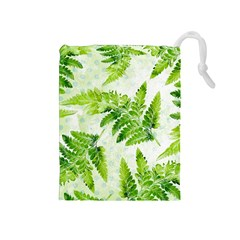 Fern Leaves Drawstring Pouches (Medium)