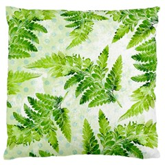 Fern Leaves Large Flano Cushion Case (one Side) by DanaeStudio