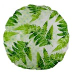 Fern Leaves Large 18  Premium Flano Round Cushions Front