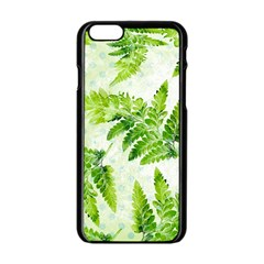 Fern Leaves Apple Iphone 6/6s Black Enamel Case by DanaeStudio