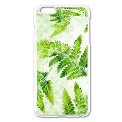 Fern Leaves Apple iPhone 6 Plus/6S Plus Enamel White Case