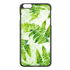 Fern Leaves Apple iPhone 6 Plus/6S Plus Black Enamel Case