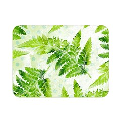 Fern Leaves Double Sided Flano Blanket (mini)  by DanaeStudio