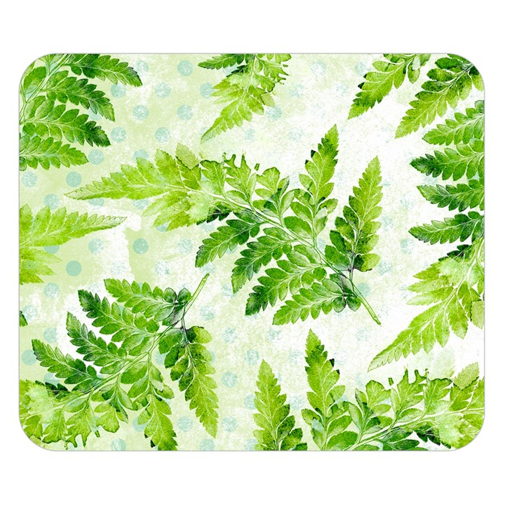 Fern Leaves Double Sided Flano Blanket (Small)