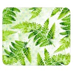 Fern Leaves Double Sided Flano Blanket (Small)  50 x40 Blanket Back