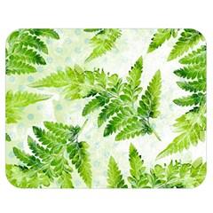 Fern Leaves Double Sided Flano Blanket (medium)  by DanaeStudio