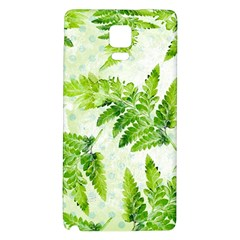 Fern Leaves Galaxy Note 4 Back Case by DanaeStudio