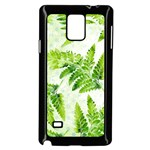 Fern Leaves Samsung Galaxy Note 4 Case (Black) Front