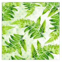 Fern Leaves Large Satin Scarf (Square)