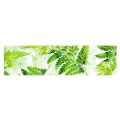Fern Leaves Satin Scarf (oblong)