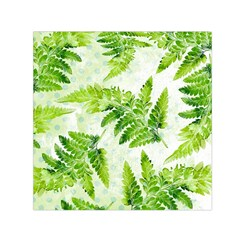 Fern Leaves Small Satin Scarf (Square)