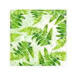 Fern Leaves Small Satin Scarf (Square)  Front