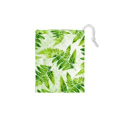 Fern Leaves Drawstring Pouches (XS)