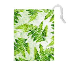 Fern Leaves Drawstring Pouches (extra Large) by DanaeStudio