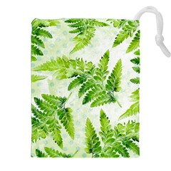 Fern Leaves Drawstring Pouches (XXL)
