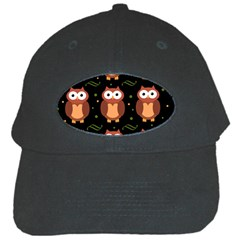 Halloween brown owls  Black Cap