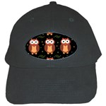 Halloween brown owls  Black Cap Front
