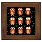 Halloween brown owls  Framed Tiles