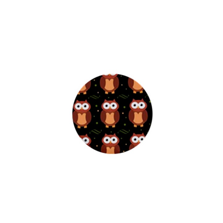 Halloween brown owls  1  Mini Buttons