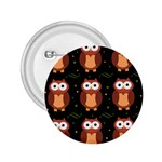 Halloween brown owls  2.25  Buttons Front
