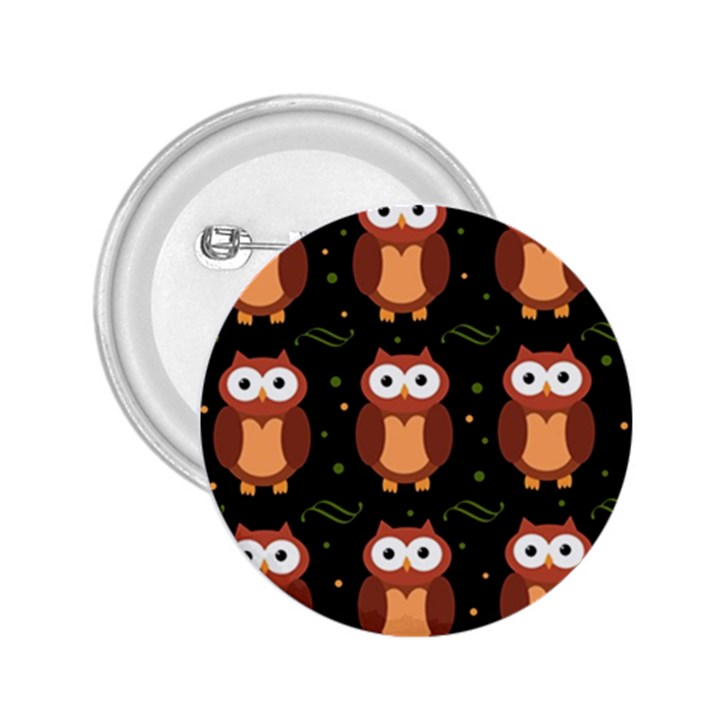Halloween brown owls  2.25  Buttons