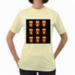 Halloween brown owls  Women s Yellow T-Shirt